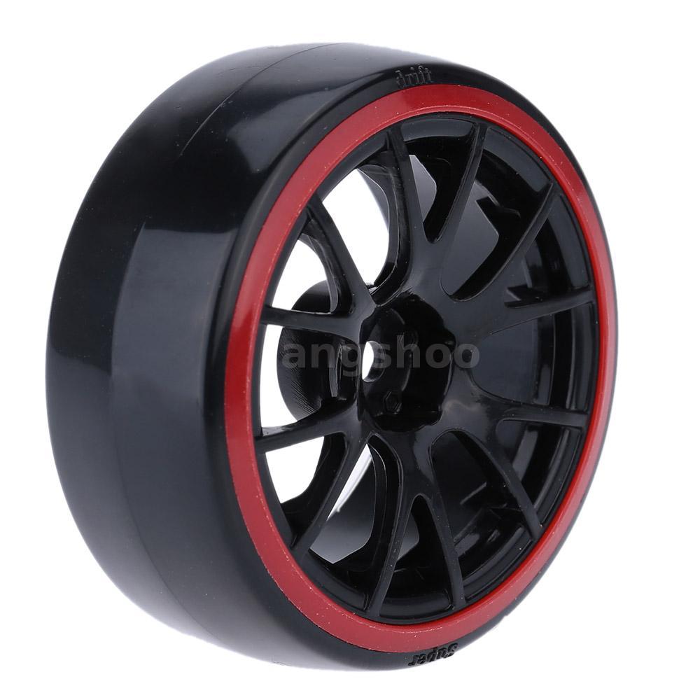 4pcs set 1 10 drift voiture de pneu dur pour traxxas hsp tamiya rc voiture e9d5. Black Bedroom Furniture Sets. Home Design Ideas